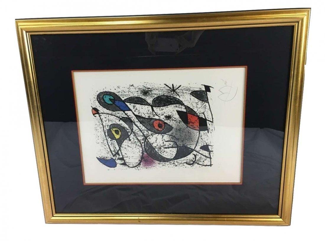 "Joan Miró signed lithograph ""A l'encre"" Hors Commerce"