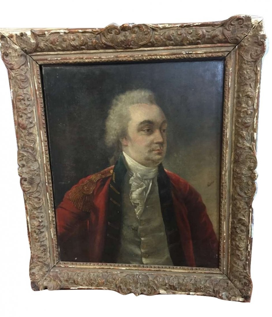 18th Portrait of British Officer Manner of Gainsborough