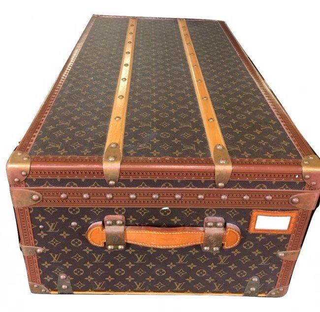 Louis Vuitton Large Trunk Leather Luggage LV Monogram