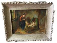 Mario Manes (French) Original oil on canvas painting