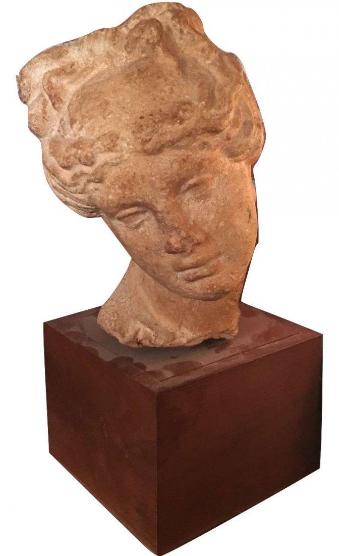 Greco-Roman Statue Bust Apollo 4c. Limestone Leochares