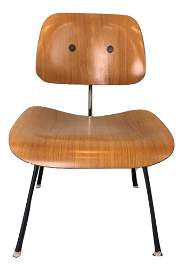Charles Eames DCM Plywood & Steel Chair Herman Miller