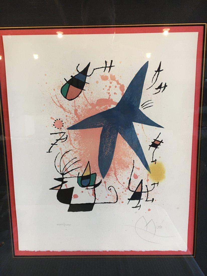 "Joan Miro S/N lithograph ""Etoile Bleue"" Blue Star"