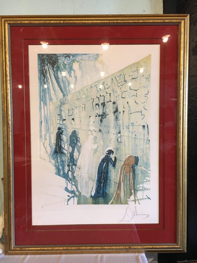 "Salvador Dali signed/numbered ""Wailing Wall"" lithograph"