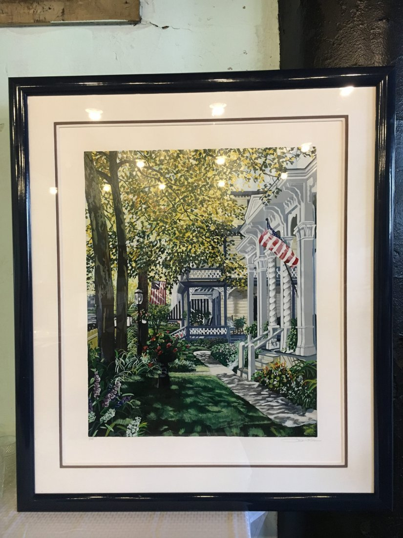 """""""Main Street"""" signed numbered serigraph by Susan Rios"""