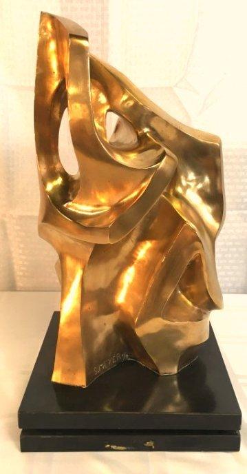 Seymour Meyer bronze biomorphic sculpture Mid Century