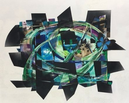 Stan Jorgensen Geometric Abstract Mixed Media Butterfly - 2