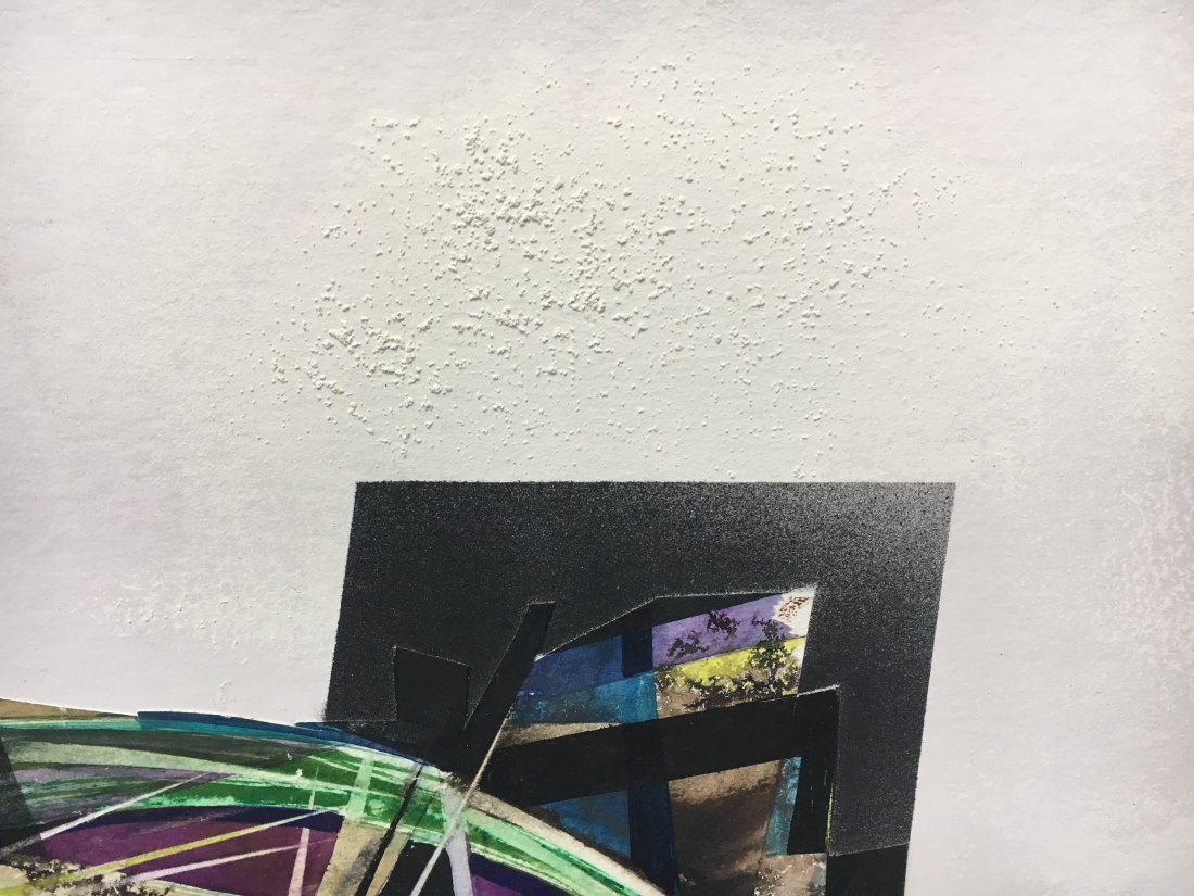 Stan Jorgensen Geometric Abstract Mixed Media Butterfly - 3