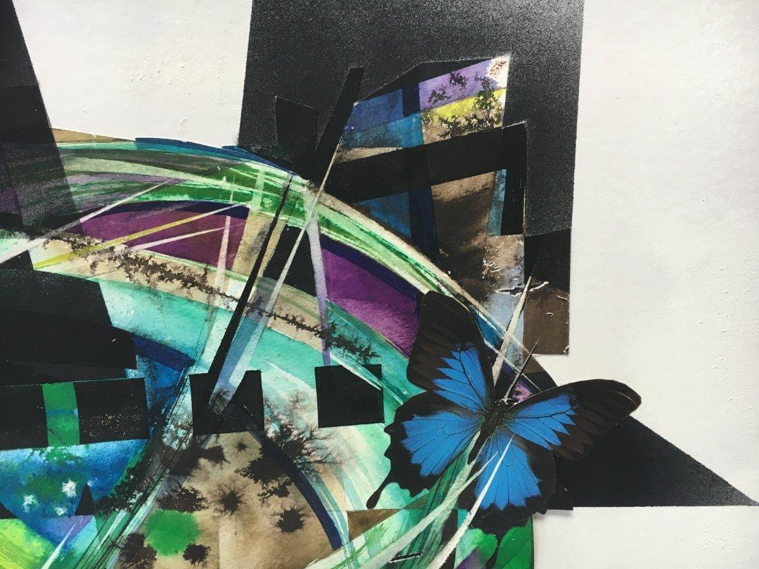 Stan Jorgensen Geometric Abstract Mixed Media Butterfly - 4