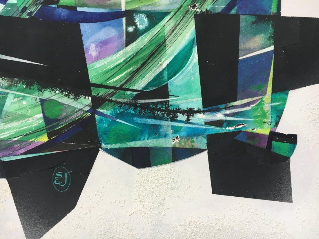 Stan Jorgensen Geometric Abstract Mixed Media Butterfly - 5