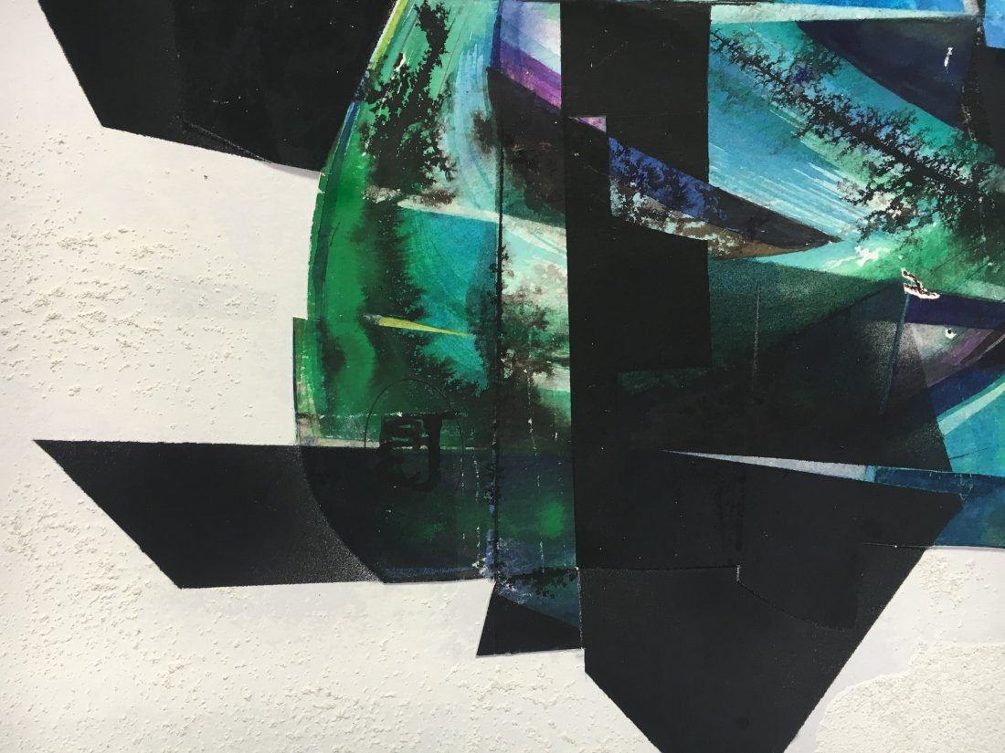 Stan Jorgensen Geometric Abstract Mixed Media Butterfly - 7