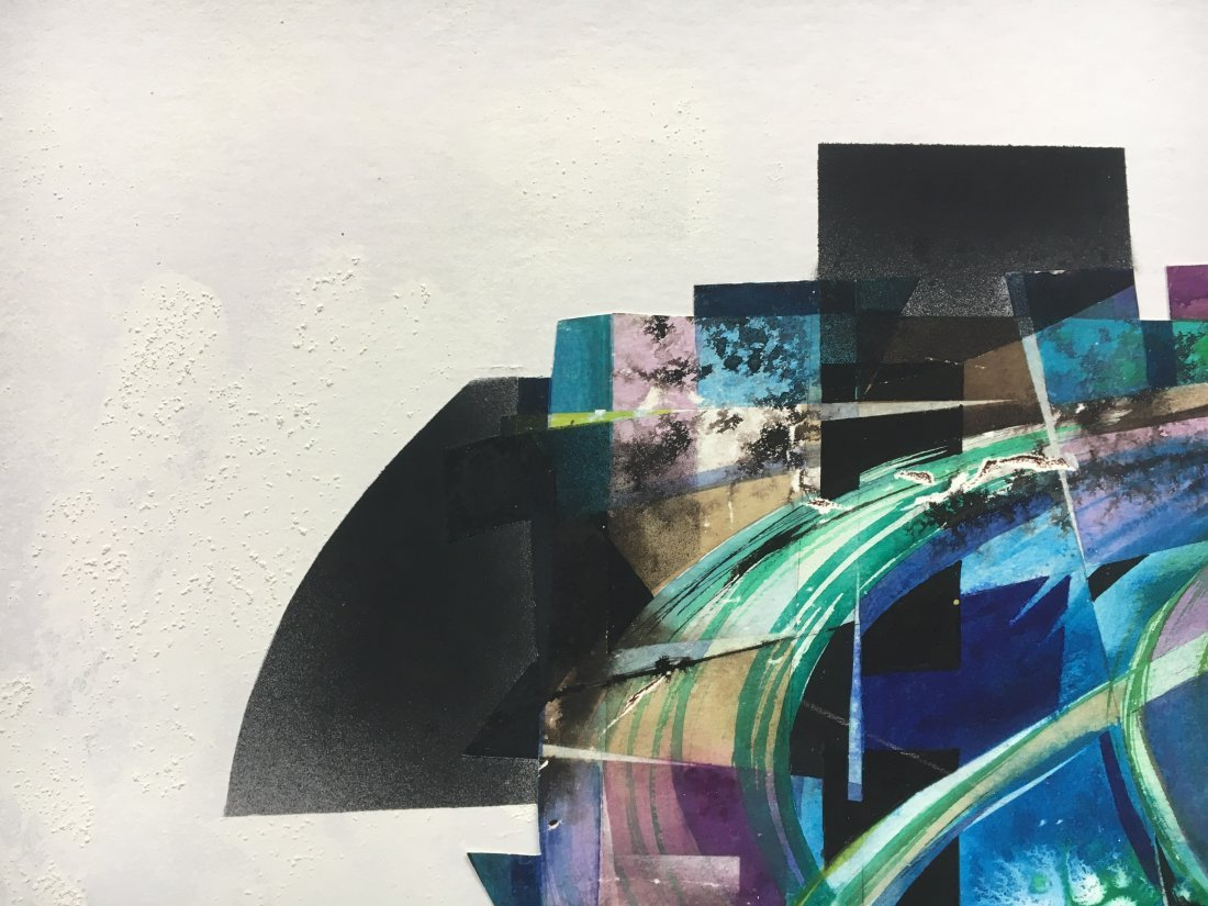 Stan Jorgensen Geometric Abstract Mixed Media Butterfly - 8