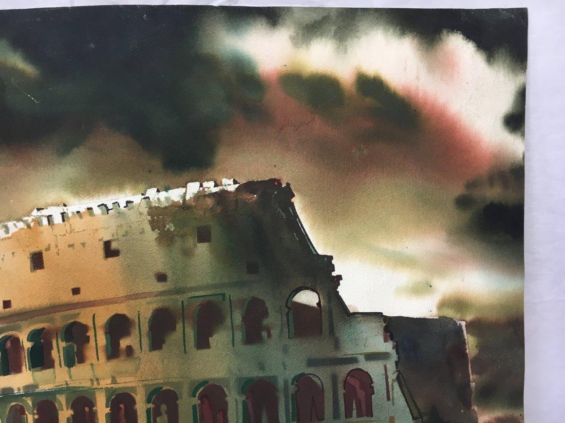 Stan Jorgensen Geometric Abstract Watercolor Coliseum - 4