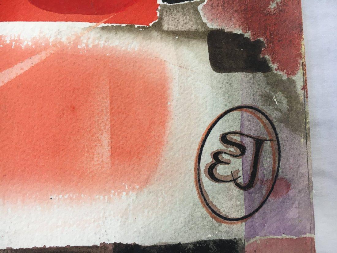 Stan Jorgensen Geometric Abstract Watercolor Coliseum - 5