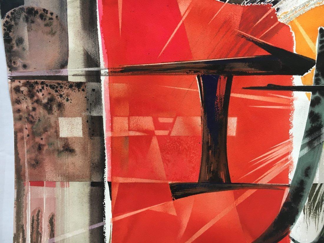 Stan Jorgensen Geometric Abstract Watercolor Coliseum - 6