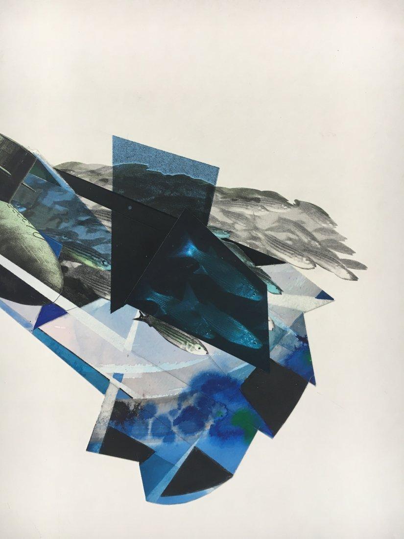 Stan Jorgensen Geometric Abstract Mixed Media Fish - 2