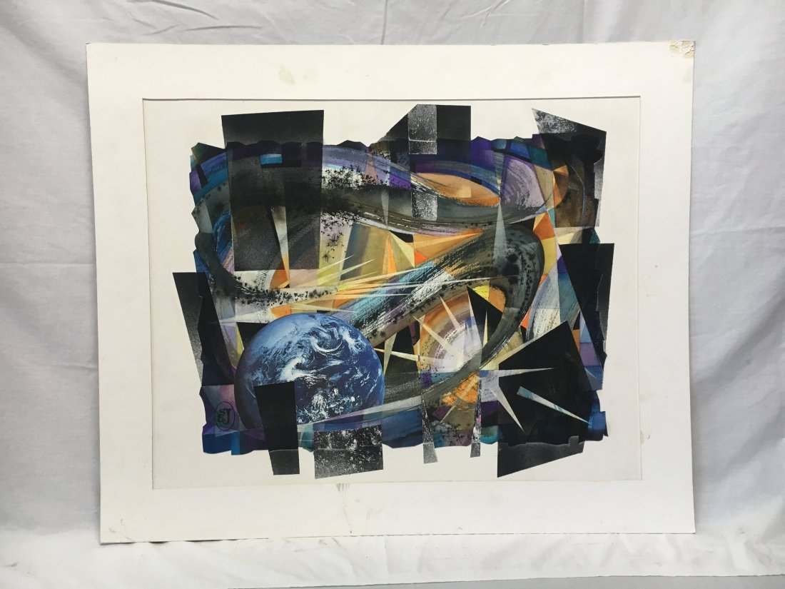 Stan Jorgensen Geometric Abstract Mixed Media Earth