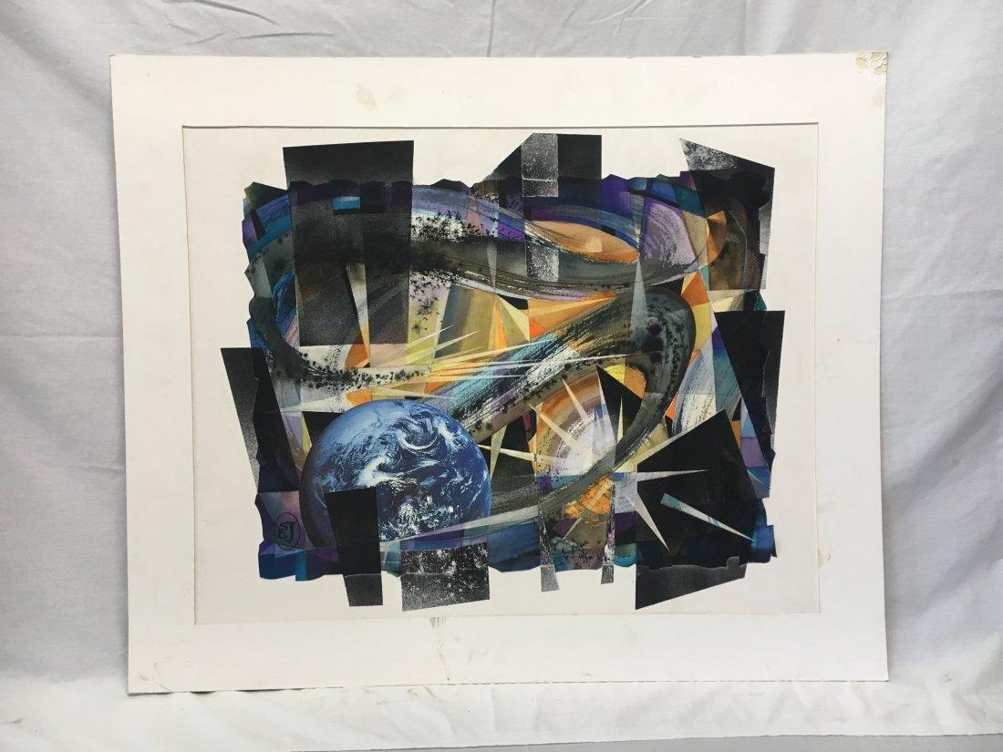 Stan Jorgensen Geometric Abstract Mixed Media Earth