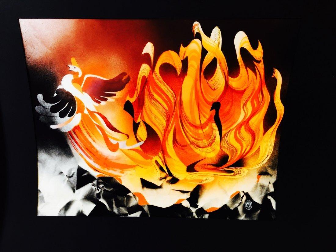 Stan Jorgensen abstract art mixed media collage MAO