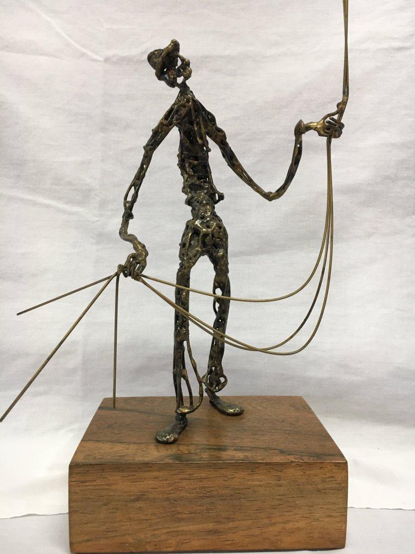 Mid Century Brutalist bronze ballon man sculpture - 2