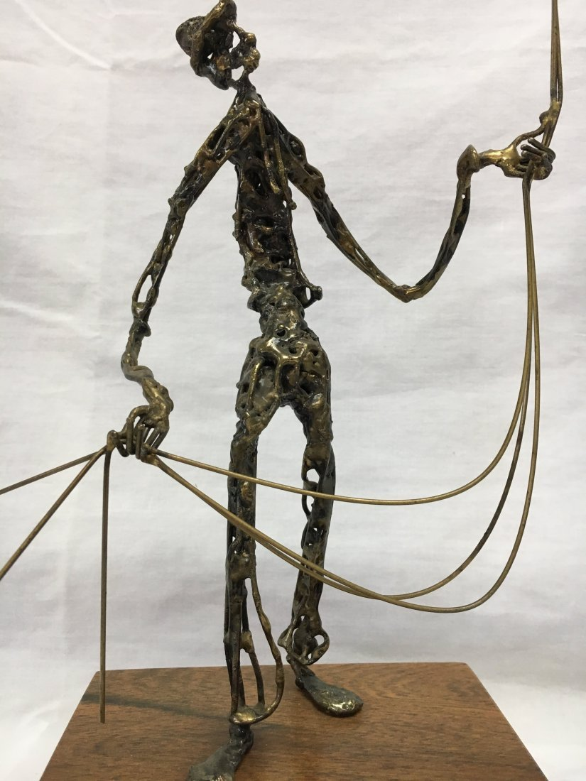 Mid Century Brutalist bronze ballon man sculpture - 3