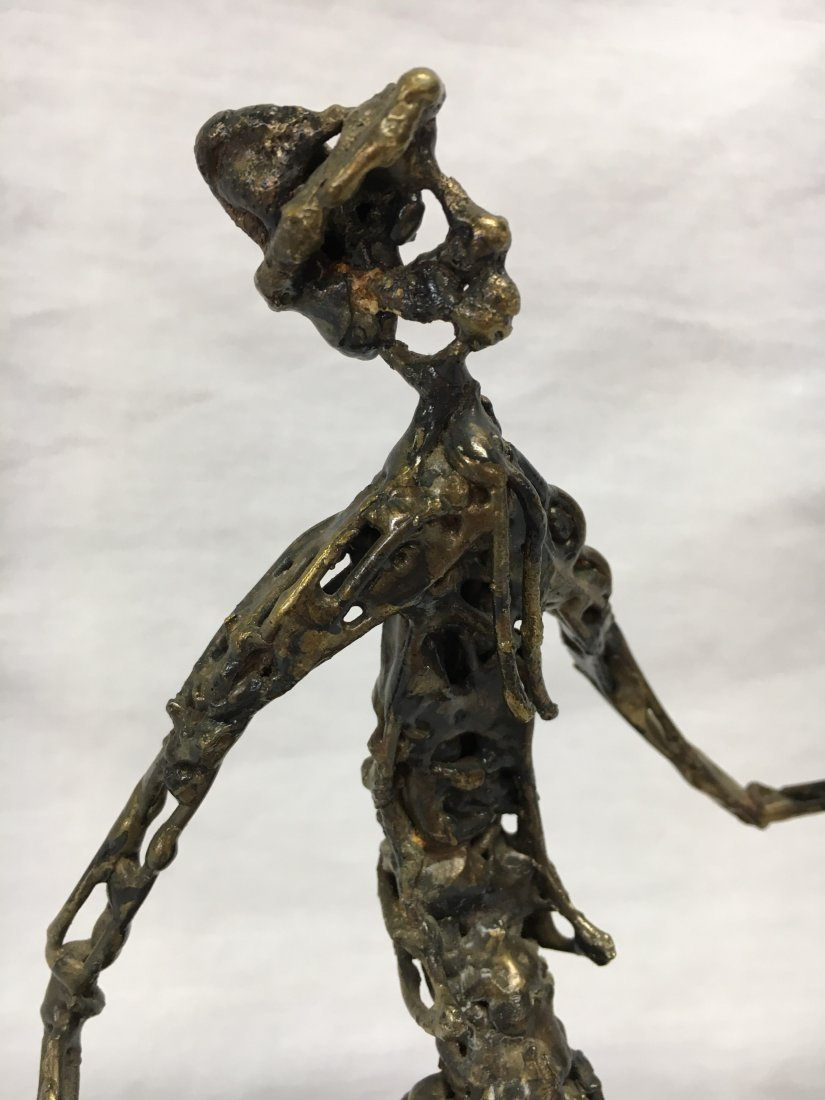 Mid Century Brutalist bronze ballon man sculpture - 4