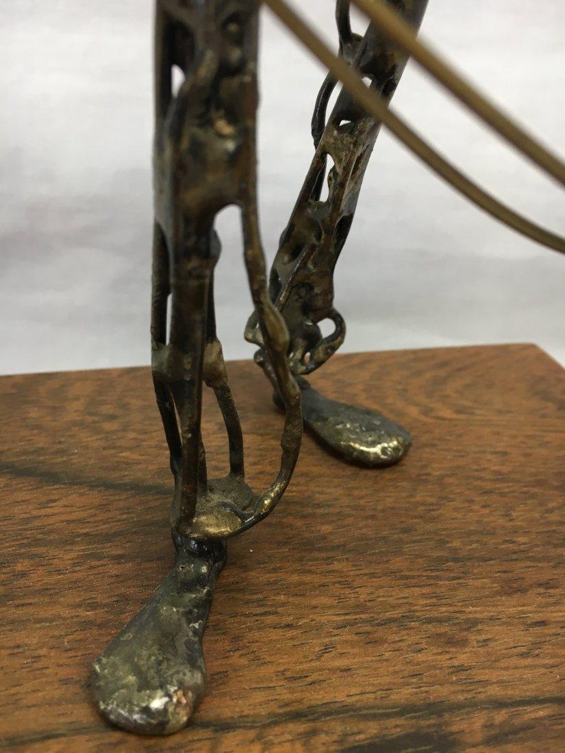 Mid Century Brutalist bronze ballon man sculpture - 5