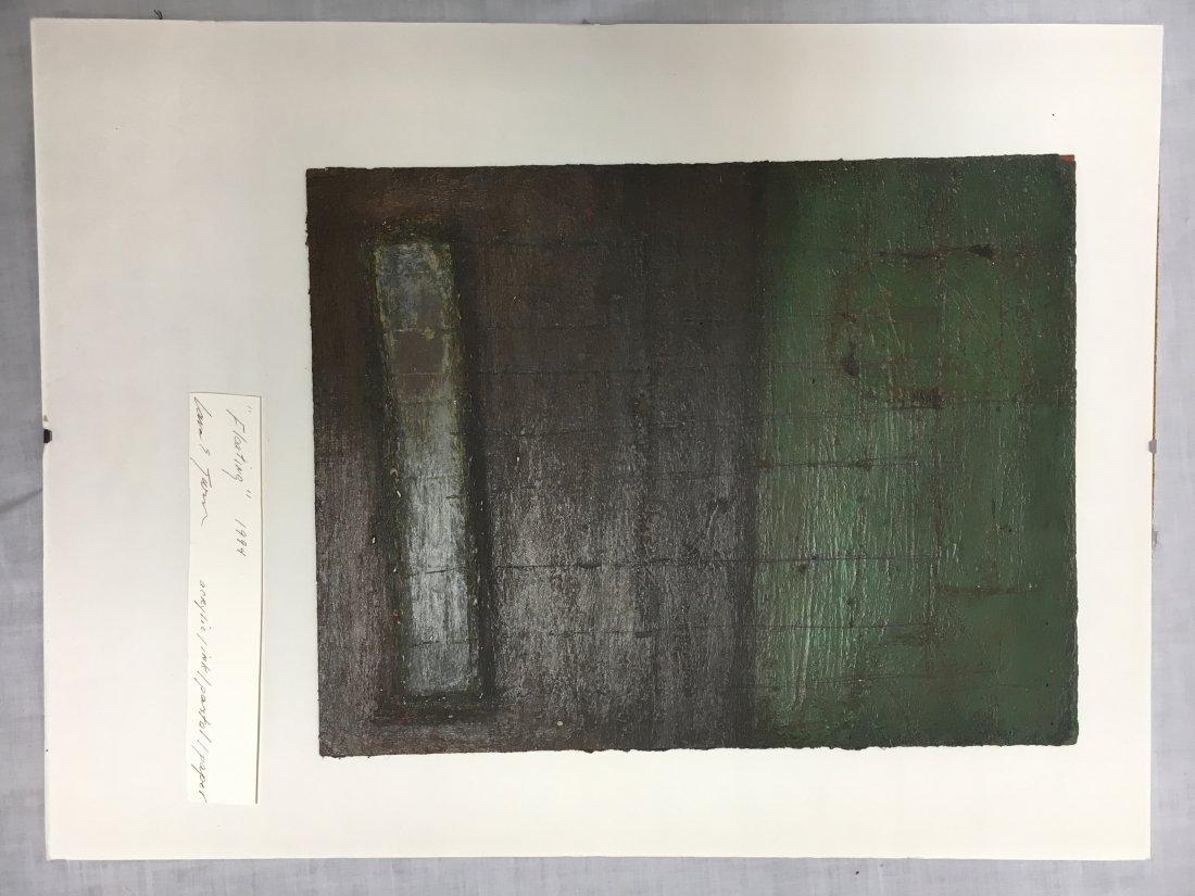 Lana Turner original abstract mixed media painting