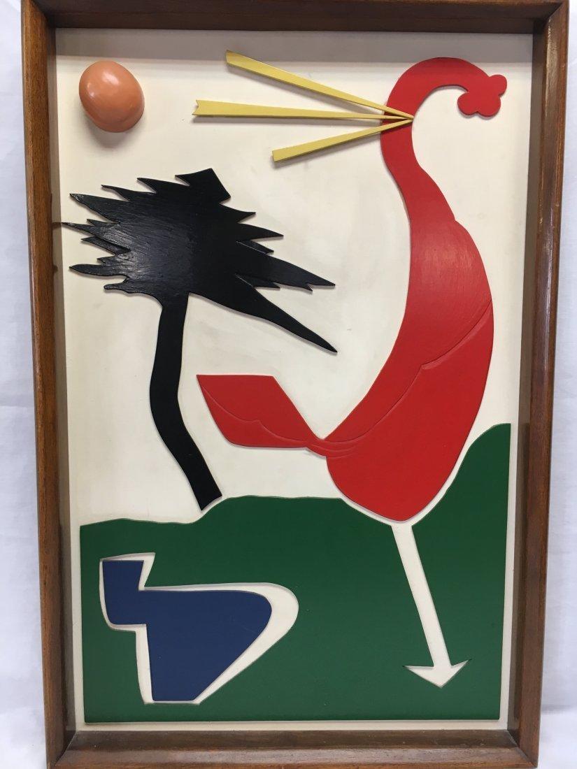 Mid Century Abstract 3D Rooster constructivist school