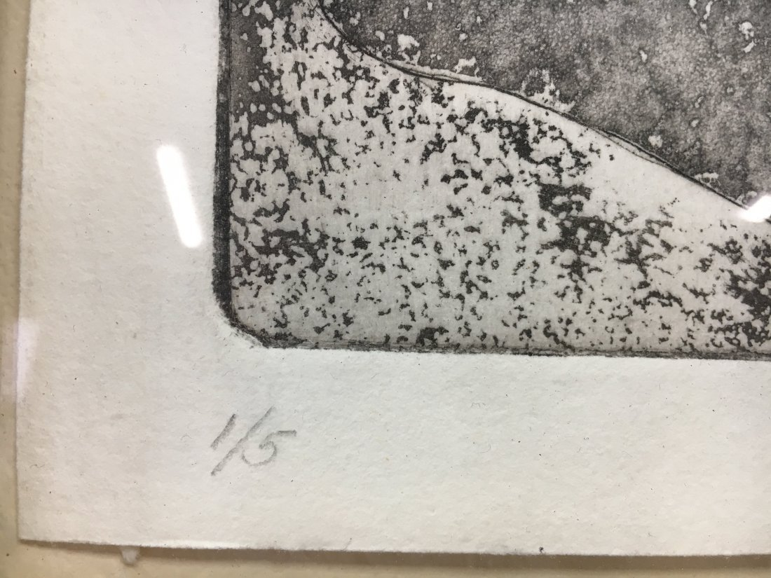 """Clifford """"American Landscape"""" etching Mid Century Mod - 3"""