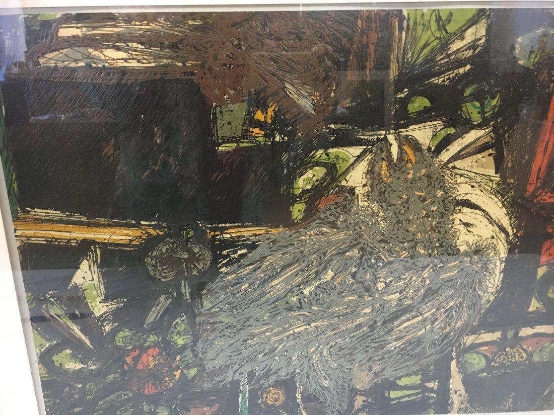 """Harry Krug signed serigraph """"The Snare"""" Ed 48 Brutalism - 2"""