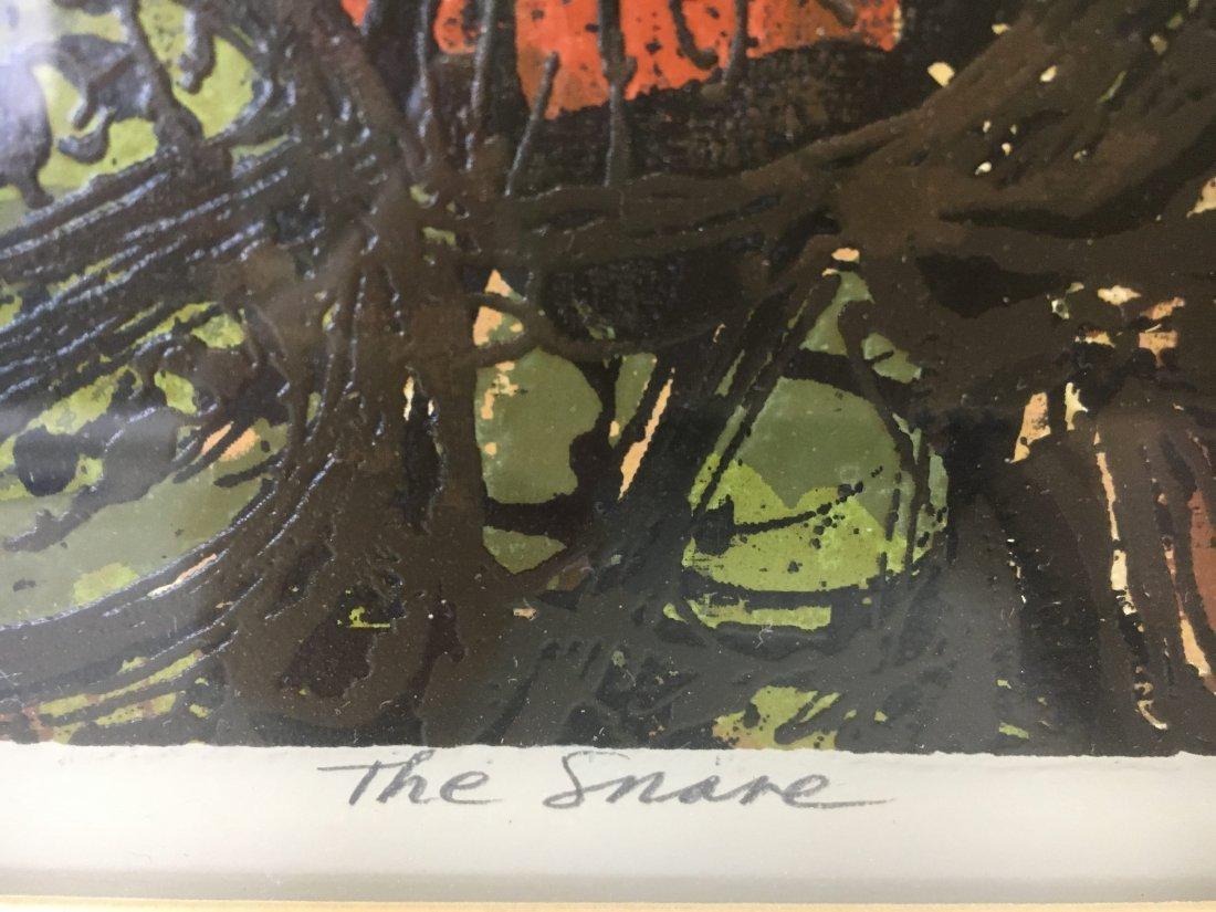 """Harry Krug signed serigraph """"The Snare"""" Ed 48 Brutalism - 5"""