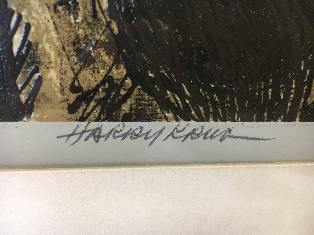 """Harry Krug signed serigraph """"The Snare"""" Ed 48 Brutalism - 7"""