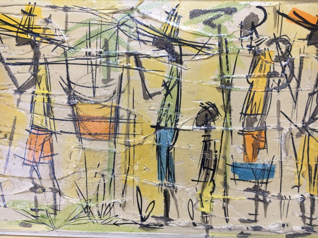Jean Nerfin original Mid Century abstract impasto paint - 3