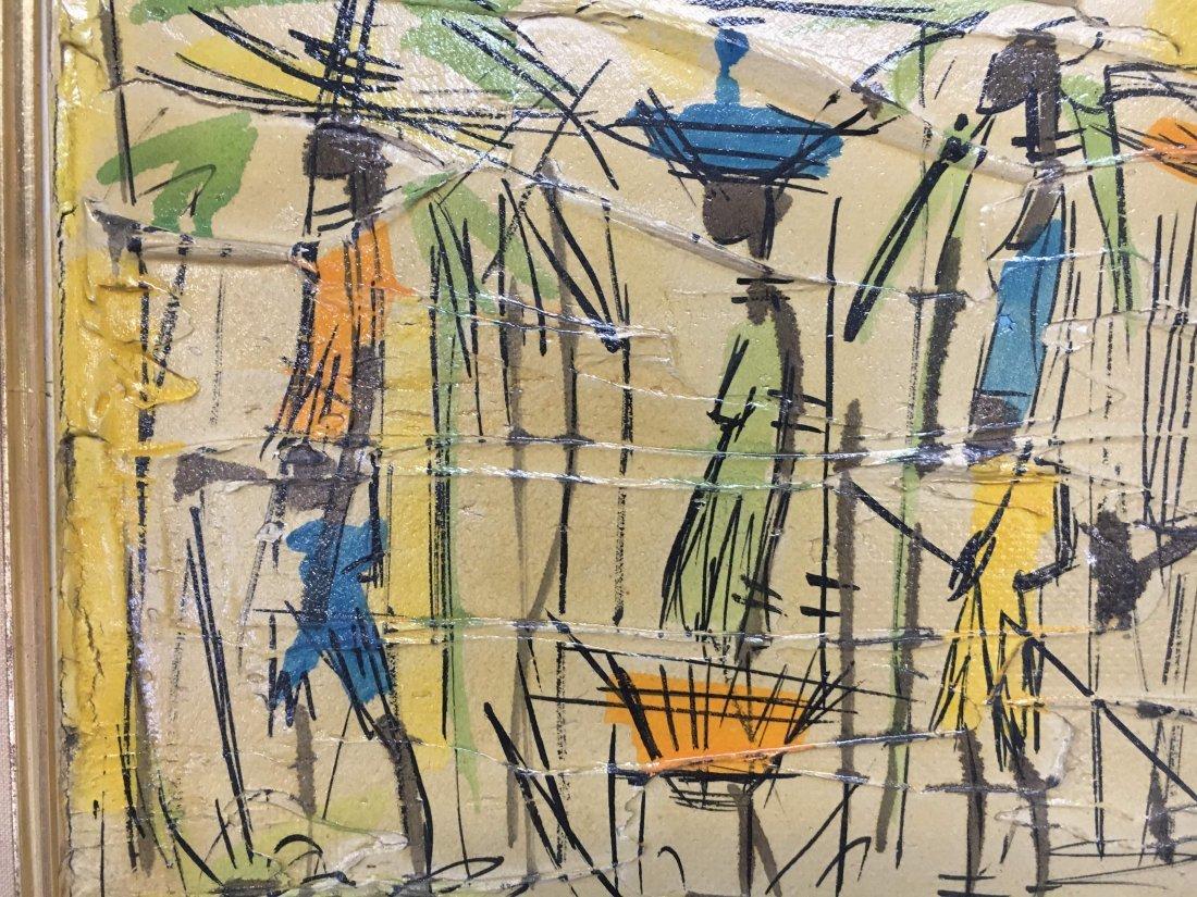 Jean Nerfin original Mid Century abstract impasto paint - 4