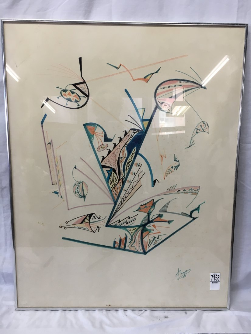 Seymour Meyer original abstract color sketch - 3