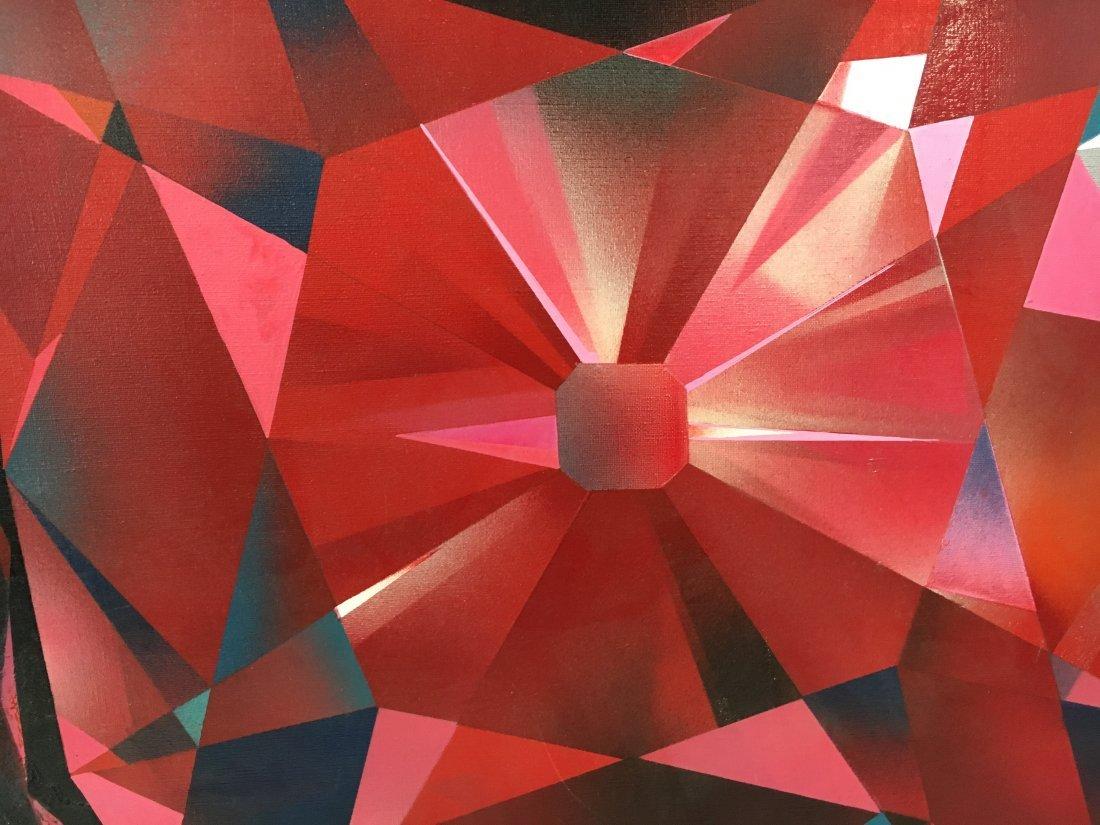 "Stan Jorgensen ""Ruby Rock"" abstract geometric painting - 4"