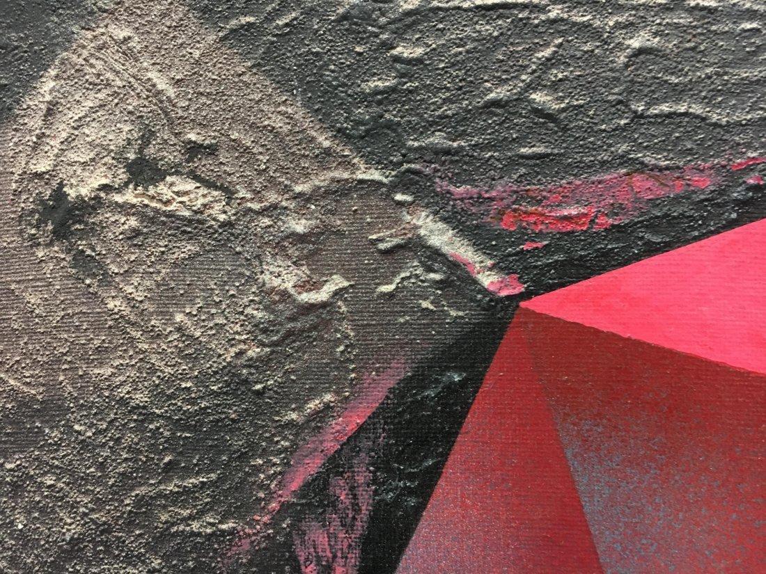 "Stan Jorgensen ""Ruby Rock"" abstract geometric painting - 5"