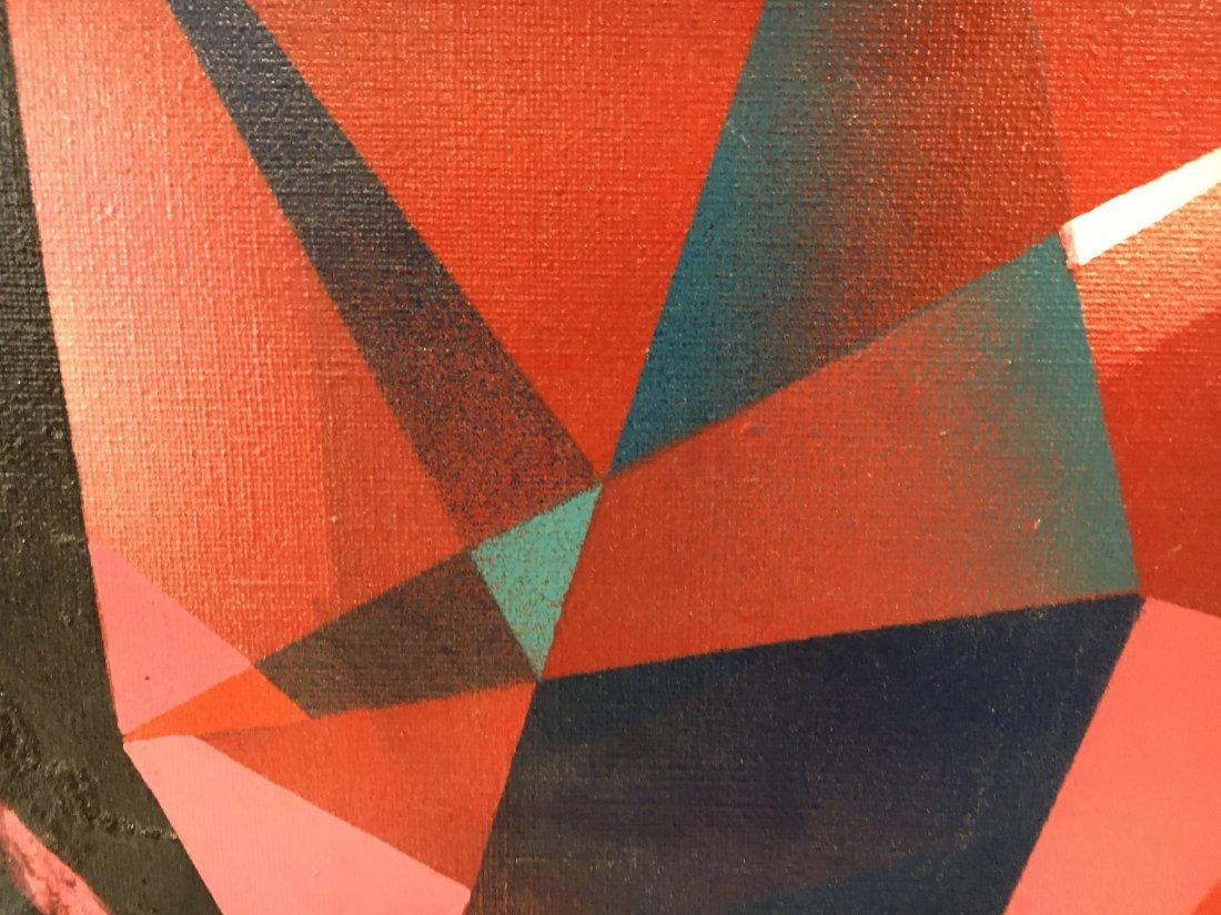 "Stan Jorgensen ""Ruby Rock"" abstract geometric painting - 6"