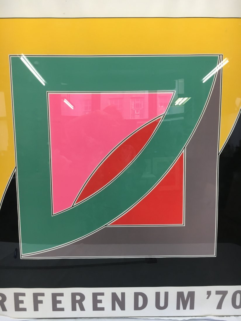 "Frank Stella ""Referendum 70"" serigraph original"
