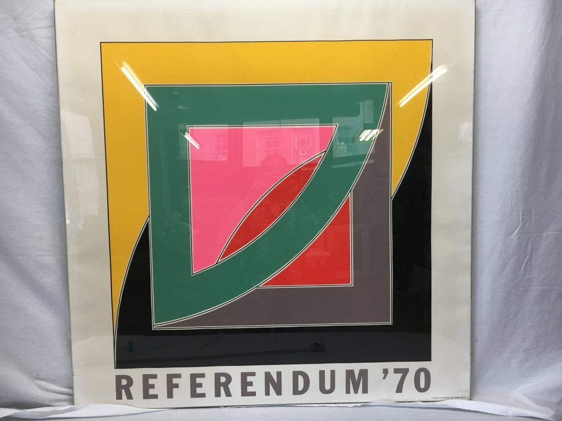 "Frank Stella ""Referendum 70"" serigraph original - 2"