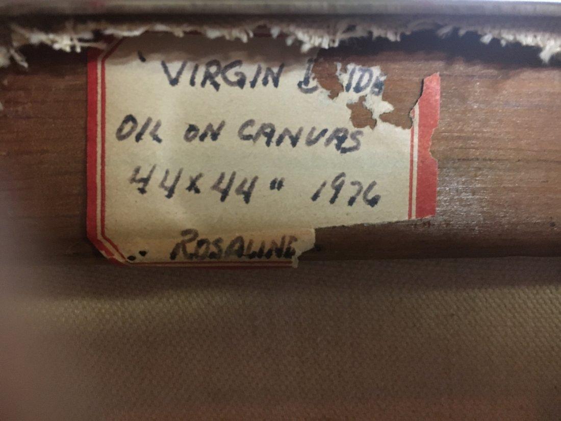 """Virgin Bride"" 1976 Rosalind pop outsider art painting - 2"