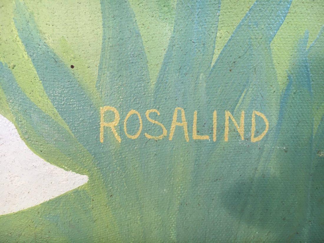"""Virgin Bride"" 1976 Rosalind pop outsider art painting - 5"