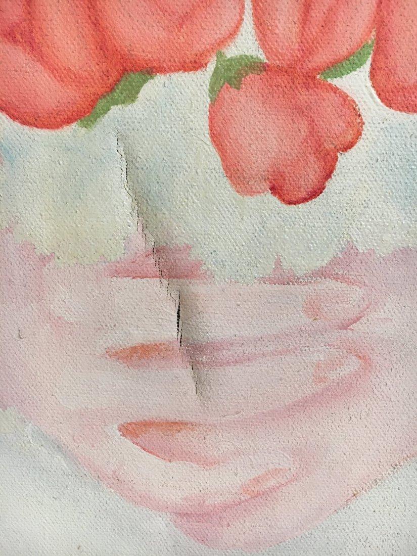 """Virgin Bride"" 1976 Rosalind pop outsider art painting - 7"