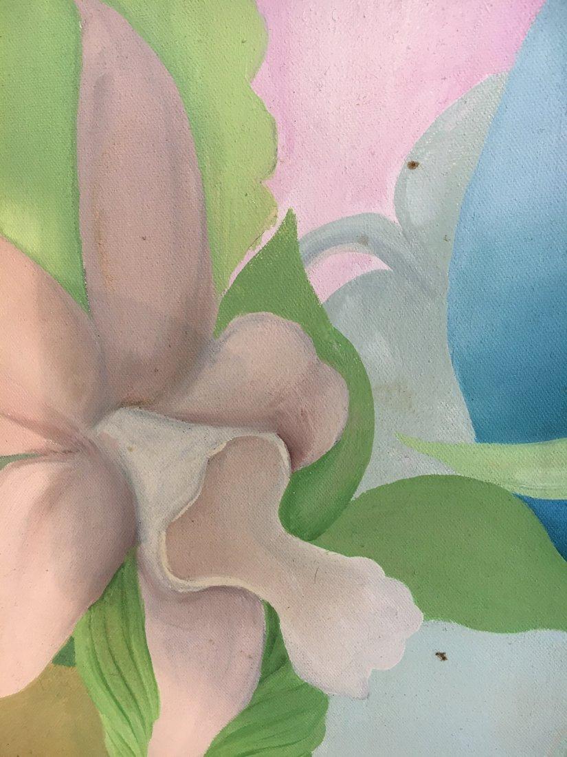 """Virgin Bride"" 1976 Rosalind pop outsider art painting - 8"