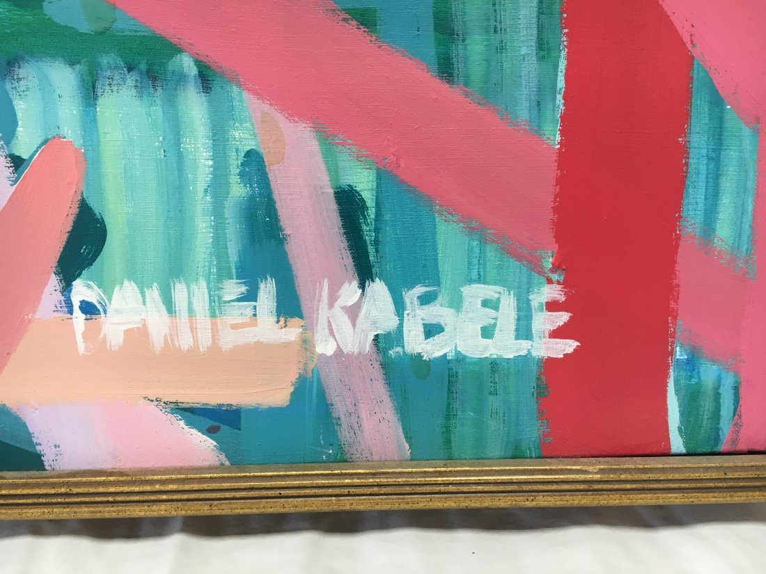 Daniel Kabele acrylic /canvas abstract pop art painting - 2
