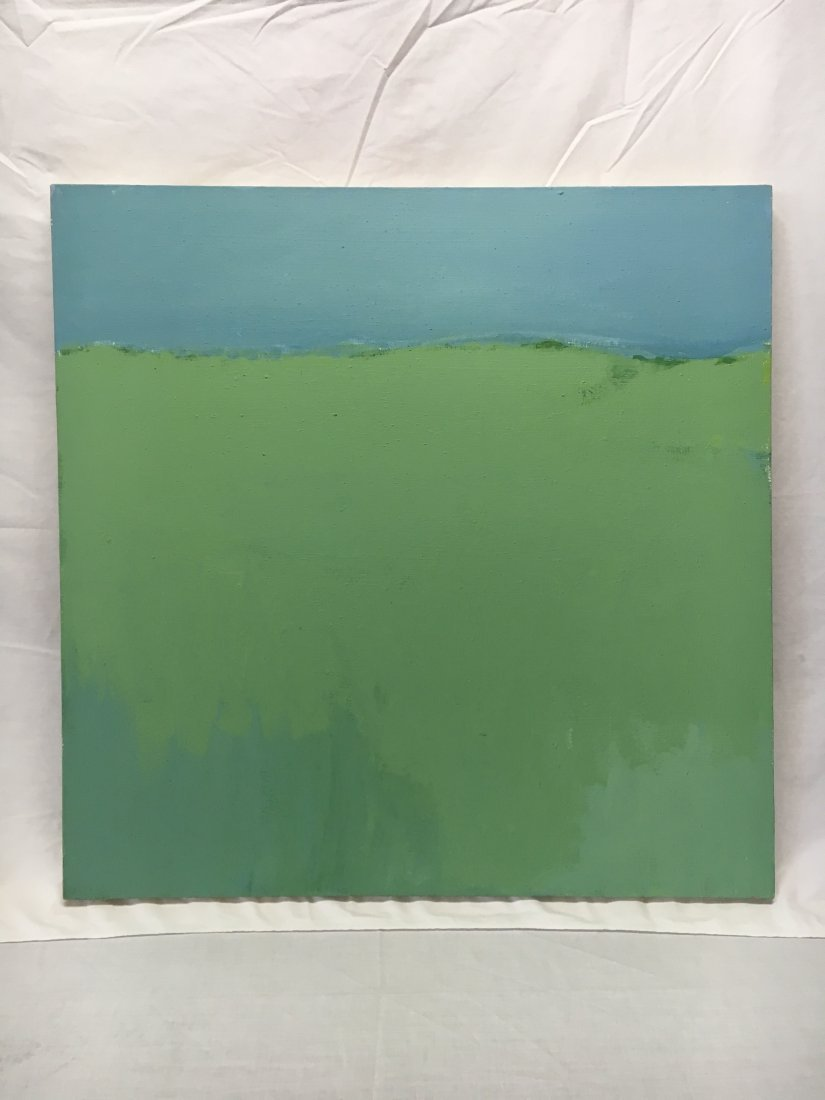 Daniel Kabele abstract modern green/blue painting