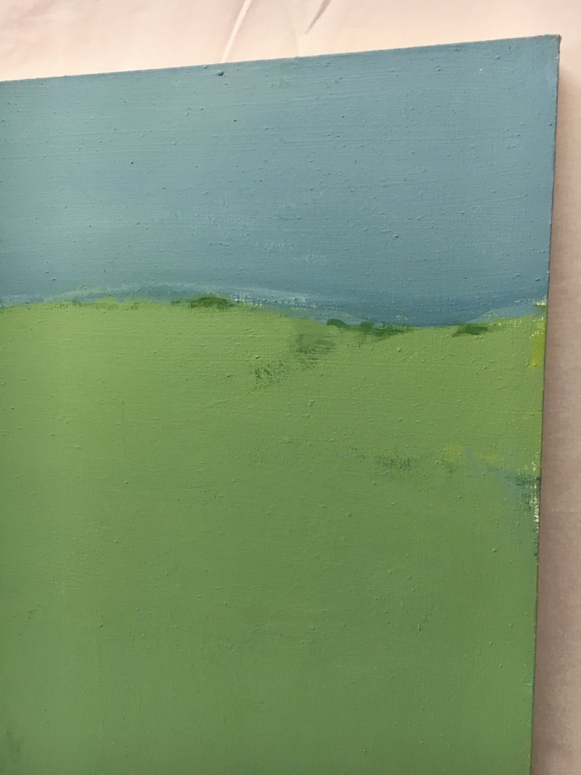 Daniel Kabele abstract modern green/blue painting - 2