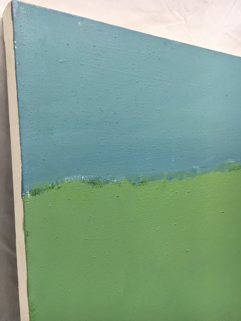 Daniel Kabele abstract modern green/blue painting - 3