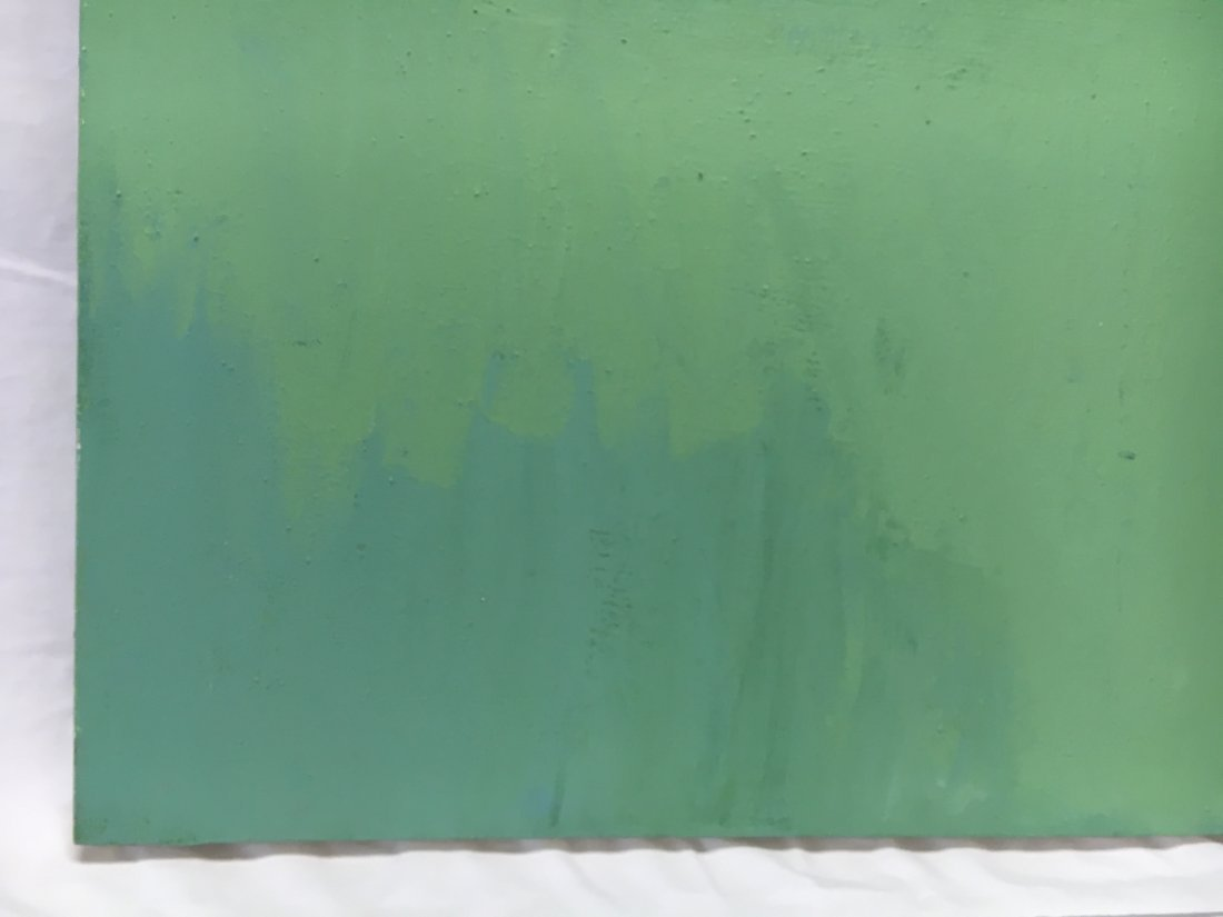 Daniel Kabele abstract modern green/blue painting - 4